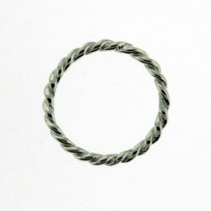 Silver Rope Twist Band Ring Size 6
